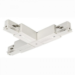 3-Circuit Tracks - Electrical T-coupler - Earth contact right - White