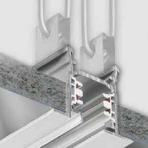 3-Circuit Tracks for Recessed Mounting - 2000mm - White