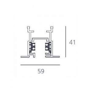3-Circuit Tracks for Recessed Mounting - 2000mm - White изображение 2