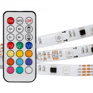 Лента SPI-5000SE-5060-30 12V Cx3 RGB-Remote (10mm, 7.2W, IP65)