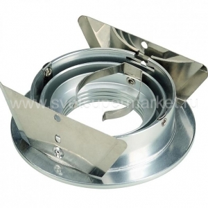 NEW TRIA GU10 ROUND DOWNLIGHT SILVER GRAY